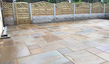 Indian sandstone patio Nottingham