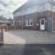 finished block paving driveway Sawley